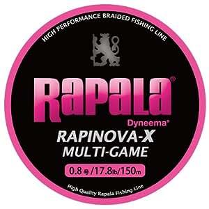 Rapala(ラパラ) PEライン ラピノヴァX マルチゲーム 150m 0.8号 17.8lb ピンク RLX150M08PK