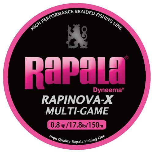 [해외]Rapala (라 파라) PE 라인 라삐노봐 X 멀티 게임 150m 0.8 호 17.8lb 핑크 RLX150M08PK/Rapala (Lapala) PE Line Rapinova X Multi Game 150 m 0.8 No. 17.8 lb Pink RLX 150 M 08 PK