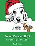 Tween Coloring Book: Christmas Designs Vol 1: Colouring Book for Teenagers, Young Adults, Boys, Girls, Ages 9-12, 13-16, Cute Arts & Craft Gift, Detailed Designs for Relaxation & Mindfulness