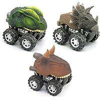 Dinosaur Pull Backおもちゃ車ミニ動物Vehicle Set of 3