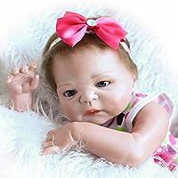 NPK 23インチ57 cmフルボディRealistic Rebornベビー人形SiliconeビニールLifelike新生児赤ちゃん女の子
