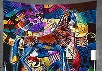 """meiyimi動物タペストリーサイケデリックブラックボヘミアンタペストリー壁Hanging Decor Indianホームヒッピーボヘミアンタペストリーfor Dorms 59""""×78"""""""