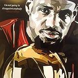 レブロン・ジェイムス 海外製 NBAグラフィックアートパネル 木製ポスター インテリア