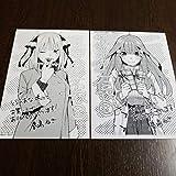 春場ねぎ 五等分の花嫁 8巻購入特典 イラストカード ペーパー 2枚セット 二乃 五月