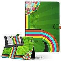 igcase d-01J dtab Compact Huawei ファーウェイ タブレット 手帳型 タブレットケース タブレットカバー カバー レザー ケース 手帳タイプ フリップ ダイアリー 二つ折り 直接貼り付けタイプ 002568 ユニーク カラフル 音楽 イラスト