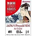 プリペイドsim 日本 無制限 ドコモ docomo 8日 プリペイド sim 日本国内sim simカード プリペイド 日本/Japan Prepaid Data SIM for iOS Android/Unlimited 4GLTE data English maker support