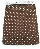 西川産業 babypuff カラフルドットタオルケット 85x115cm ブラウン 綿100% LFY5001950
