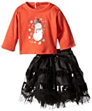 Unique人形Clothing雪だるまTop with a Black Glitter Petti Skirt Set baby-doll-accessories