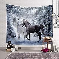 ファンタジー動物夢の森タペストリー3dビジョンナチュラルアートタペストリー壁掛けリビングルームの寝室の装飾 XLSM (Color : C, Size : 200x150)