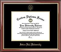 Seton Hall University Pirates–エンボスシール–マホガニーゴールドトリム–卒業証書フレーム