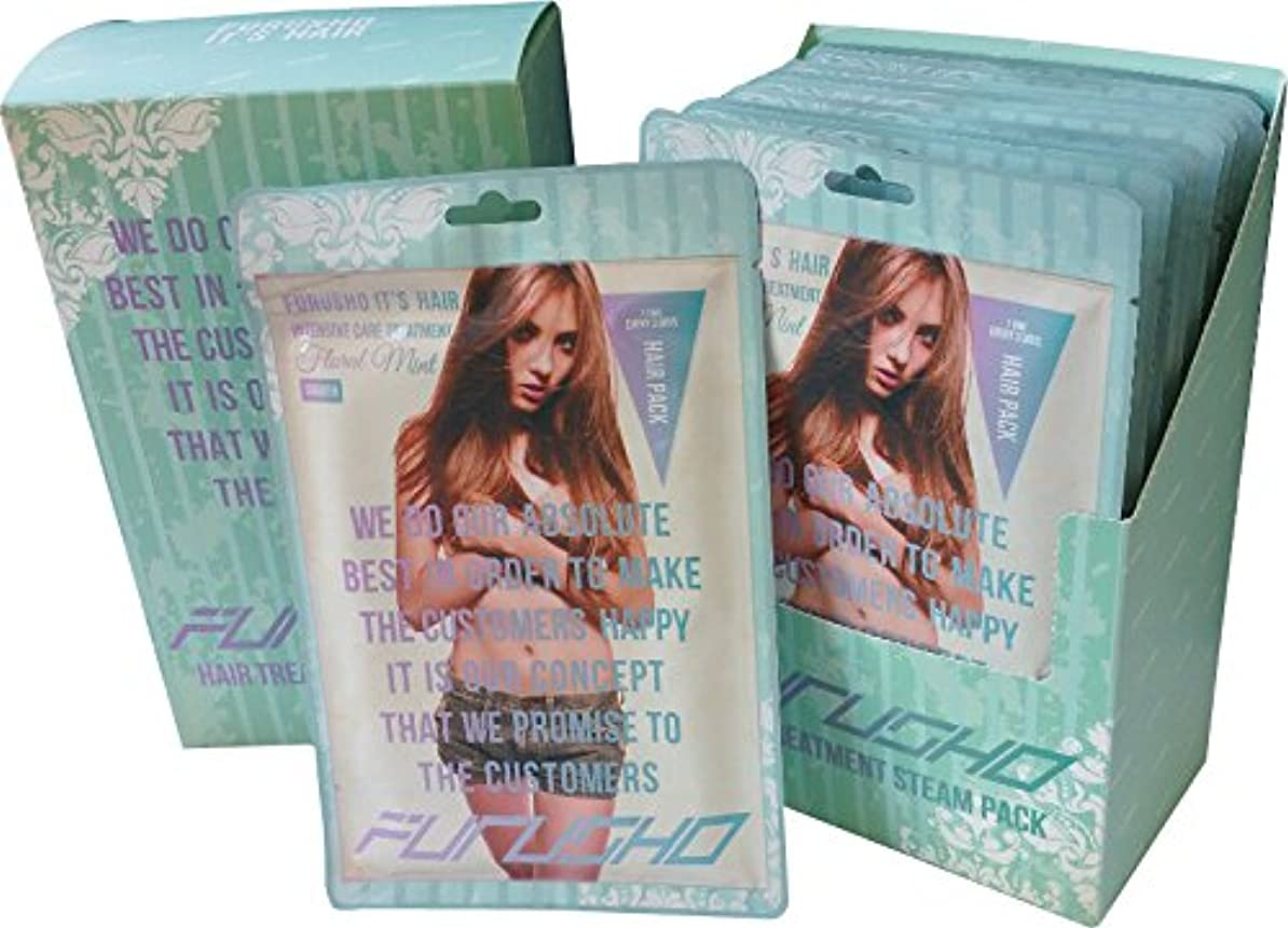 アジア繰り返す書道FURUSHO HAIR TREATMENT STEAM PACK(集中ケアヘアパック) 10枚セットBOX