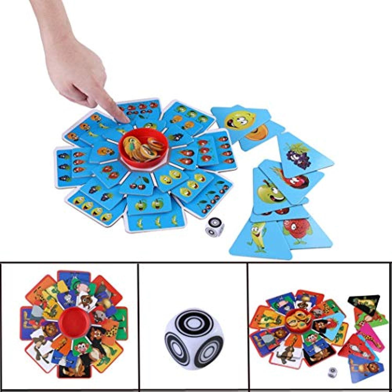 おもしろおもちゃ 親子ゲーム 動物 回転パズルボード ゲーム 面白いおもちゃ