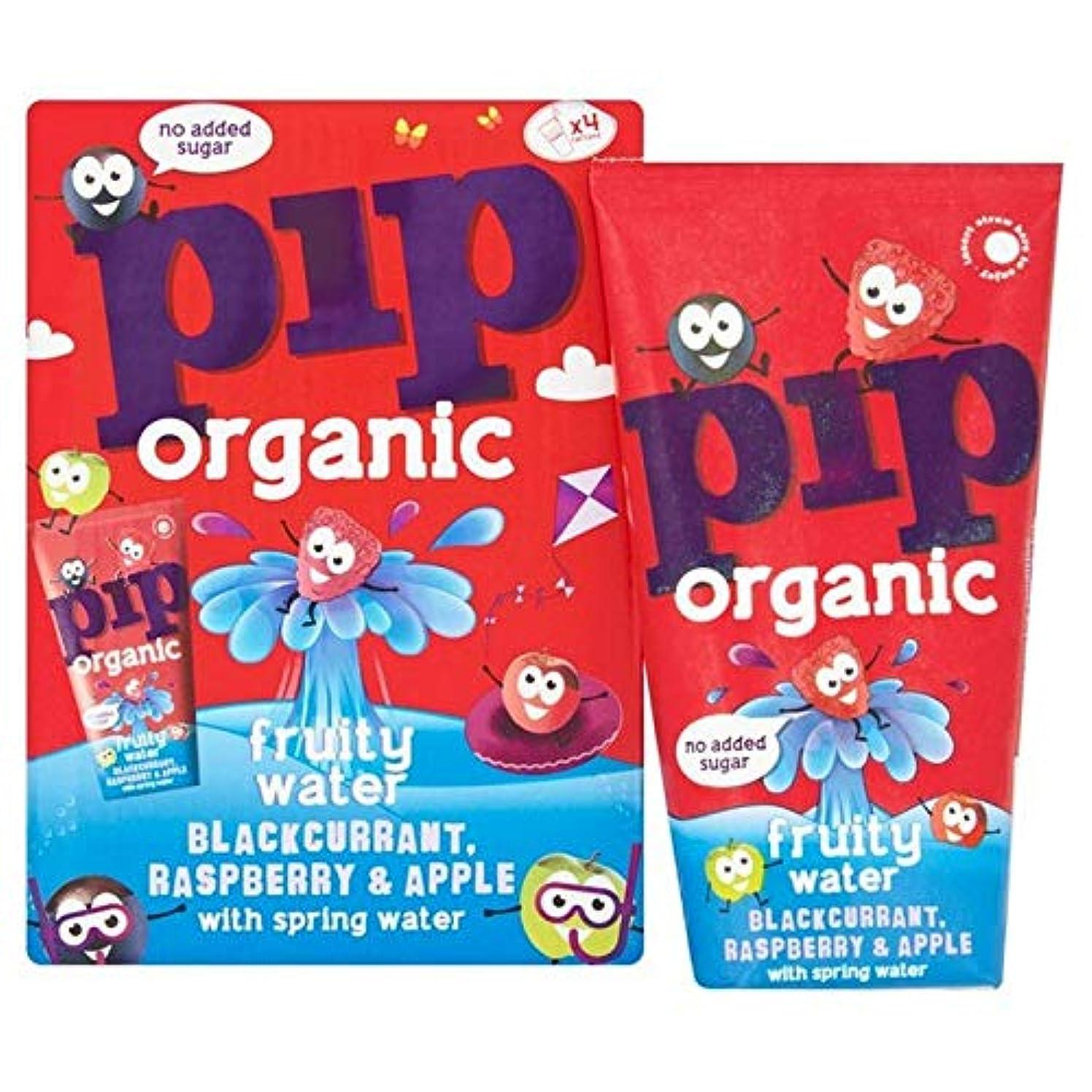 ナンセンスうぬぼれた栄光の[Pip Organic ] 有機ブラックカラント、ラズベリー&りんごのフルーティーな水4×200ミリリットルピップ - Pip Organic Blackcurrant, Raspberry & Apple Fruity...