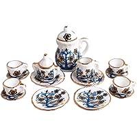 TOOGOO ( R )ドールハウスミニチュア1 : 12おもちゃキッチンダイニングルーム17 PC Porcelaine Tea Set Small Floral