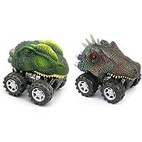 Dinosaur Pull Backおもちゃ車摩擦車のセット2