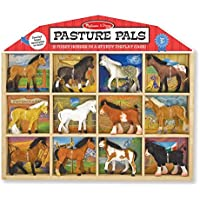 Melissa & Doug Pasture Pals - 8 Collectible Horses With Wooden Barn-Shaped Crate [並行輸入品]