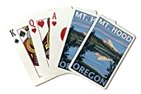 失われた湖、オレゴン州–MT。フード( Playingカードデッキ–52カードPokerサイズwithジョーカー)