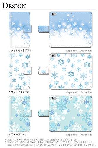 雪 結晶 冬 トナカイ (手帳型)【03.スノーフレーク】/ iPod touch 第6世代 手帳型ケース カバー アイポッド タッチ5 ipodtouch