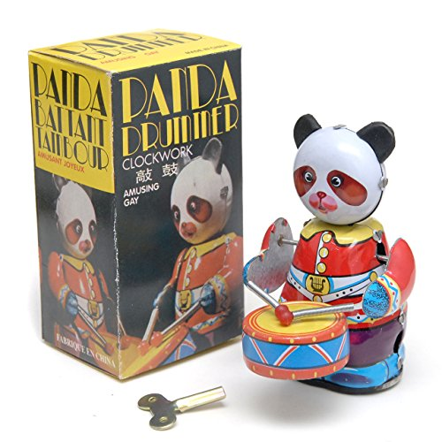 中国レトロ ぜんまい玩具 パンダドラマー コレクション用