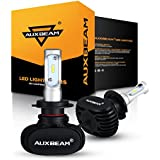 Auxbeam S1 Series H7 PX26D LED Headlight Bulbs with 2 Pcs of Conversion Kit 50W 8000lm Super Bright CSP Chips Single Beam - 1 Year Warranty
