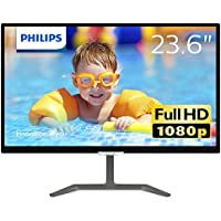 Philips 23.6型ワイド液晶ディスプレイ (PLSパネル/フルHD/5年間フル保証) 246E7QDSB/11