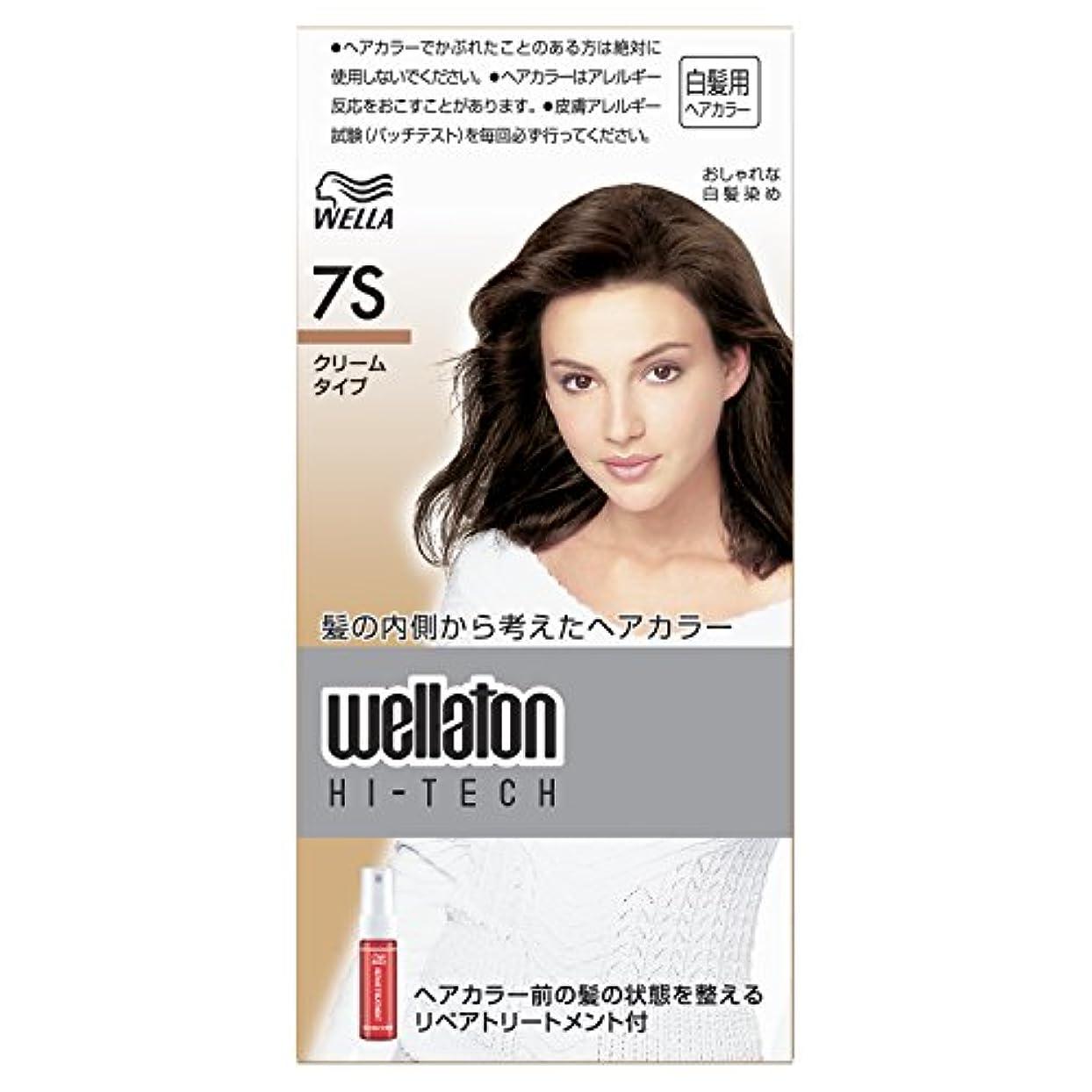 繊毛気分が良い扱いやすいウエラトーン ハイテック クリーム 7S [医薬部外品](おしゃれな白髪染め)