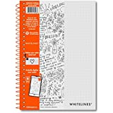 "WHITELINES WIREBOUND DOT JOURNAL 8.25"" X 5.75"""