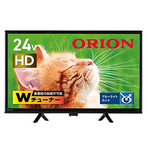 オリオン 24V型 ハイビジョン液晶テレビ ブルーライト軽減 地デジ/BS/CSチューナー搭載 外付けHDD録画対応(裏番組録画対応)  OL24WD100A