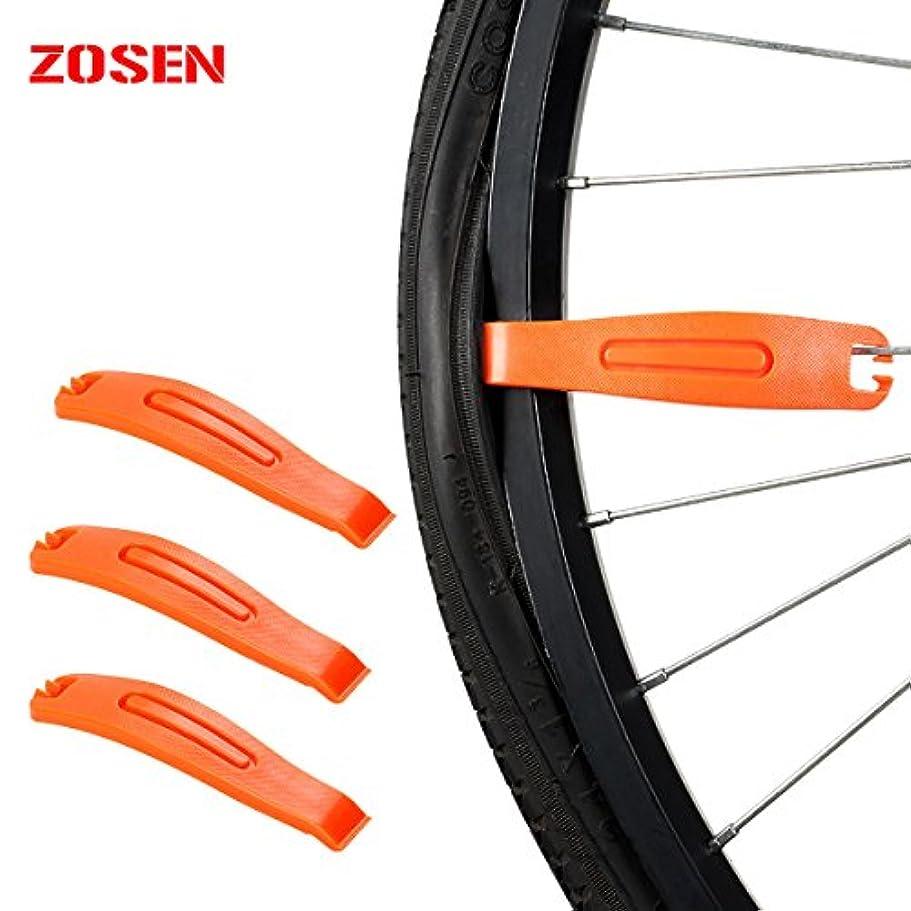 独創的カエル梨ZOSEN タイヤレバー 自転車 ナイロンタイヤレバー 自転車 タイヤ クローバー バイク タイヤオープナー タイヤ修理ツール タイヤ プライバー 自転車アクセサリー タイヤスティック プラスチック レバー タイヤパッチキット 3個