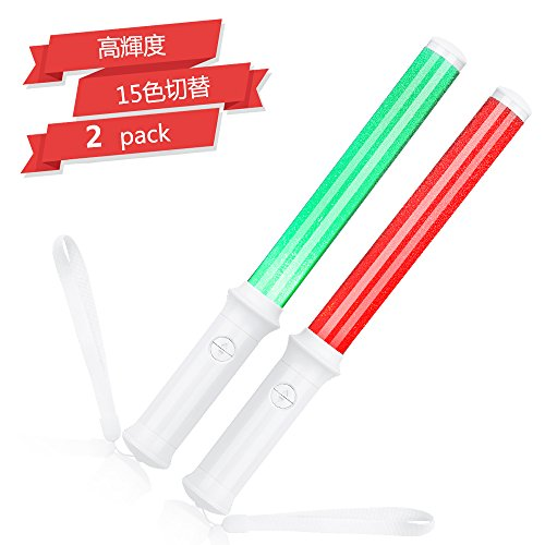 Led Lamps 15 Colors High-brightness Aaa Battery Powered Led Concert Penlight Magic Party Concert Light Sticks With Color Changing