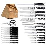 Messermeister Meridian Elite 23-piece UltraナイフブロックセットW /公園Plazaステーキナイフ