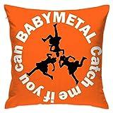Babymetal ベビーメタル クッションカバー ソファ背当て ピローケース 座布団カバー かわいい シンプル ソファー おしゃれ 部屋 車 椅子 45×45cm