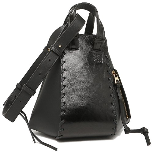 ロエベ バッグ LOEWE 0387 35 N60 1100 ハンモック HAMMOCK LACED SMALL BAG レディース ショルダーバッグ 無地 BLACK 黒 [並行輸入品]