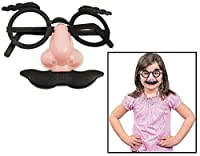 """Child Nose, Eyebrows and Mustache Glasses (12 Pack) 3 1/2"""". Plastic. [並行輸入品]"""