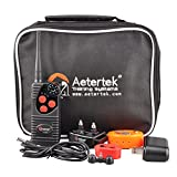AETERTEK NEW VERSION AT-216:600 YARD REMOTE DOG TRAINING SHOCK COLLAR FEATURING BEEP WARNING, STRONG HUMANE VIBRATION AND ADJUSTABLE SHOCKS by Aetertek