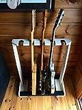 天然木 エレキ用 ギタースタンド5本掛 フェンダー ギブソン等のストラトタイプ・テレキャスタータイプ・レスポールタイプに最適な設計!!【ギターラック/保管/ギタースタンド】