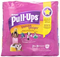 Huggies Pull-Ups Training Pants for Girls with Learning Designs, Jumbo Pack, Size 2T-3T, 26 ct by Huggies