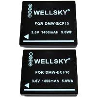 [WELLSKY] [ 2個セット ] Panasonic パナソニック DMW-BCF10 互換バッテリー [ 純正充電器で充電可能 残量表示可能 純正品と同じよう使用可能 ] LUMIX ルミックス DMC-FT3 / DMC-FX700 / DMC-FX70 / DMC-FX66 / DMC-FS10 / DMC-FT2 / DMC-FT4