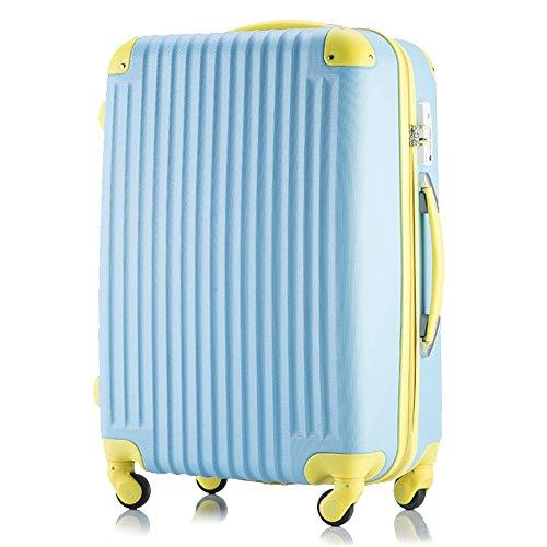 (トラベルデパート) 超軽量スーツケース TSAロック付(SSサイズ(機内持込/LCC対応), パステルブルー)...