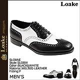 (ローク)Loake シューズ SLOANE CALF OXFORD FULL BROGUE SLOBW スローン ウイングチップ 1880 ブラック ホワイト UK7-25.5 (並行輸入品)