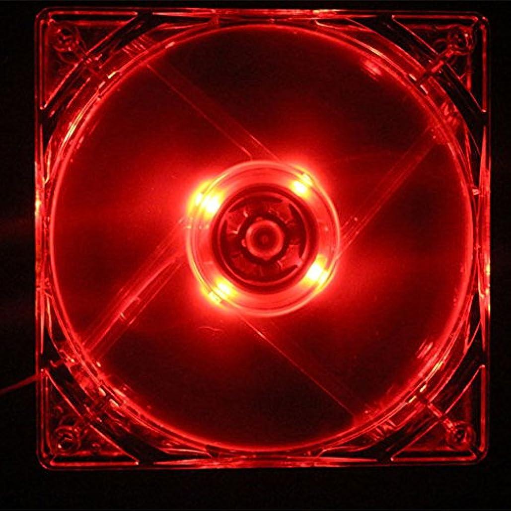 ペスト意識採用winnereco 120 mm PCコンピュータクリアケースクアッド4 LEDライトCPU冷却ファン12 cm