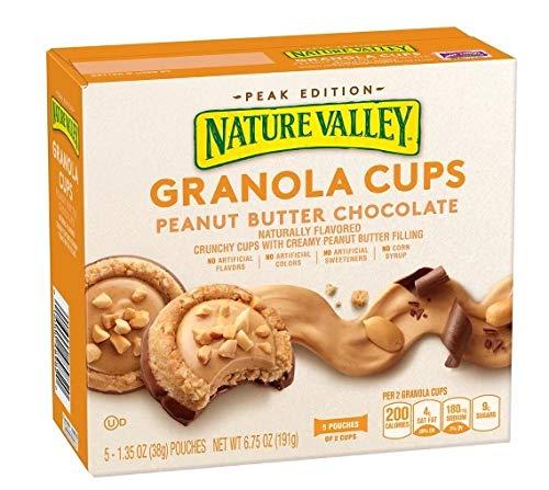 Nature Valley Granola Cups Peanut Butter Chocolate ネイチャーバレーグラノーラカップピーナッツバターチョコレート190g [並行輸入品]
