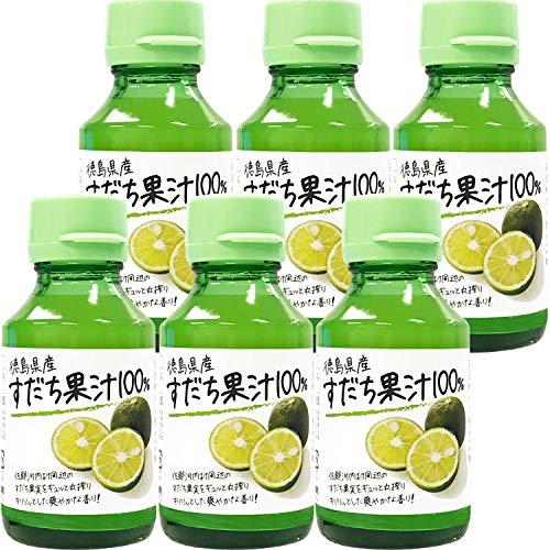 野田ハニー 徳島県産すだち果汁100% 100ml ×6個