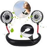 YOMYM Portable Sports Neck Hanging Fan,Free Mini Fan, Pocket Fan, Travel Fan, Earphone Design Mini USB Fan,Wearable Necklance