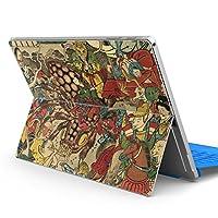 Surface pro6 pro2017 pro4 専用スキンシール サーフェス ノートブック ノートパソコン カバー ケース フィルム ステッカー アクセサリー 保護 和風 和柄 妖怪 011480