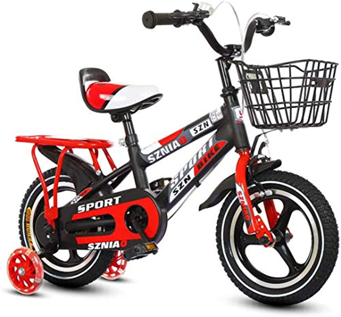 タオルささいなリフレッシュ子供のための2つの補助車輪および前部および後部ブレーキが付いている普遍的なバイクの懸濁液の自転車