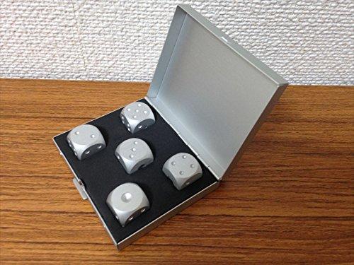おもちゃの神様 ボードゲームやインテリアに最適 メタルサイコロ 5個 セット 箱型 専用ケース付き!