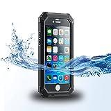 ISELECTOR 防水ケース iPhone 6s/ iPhone 6 用 防水 耐震 防塵 耐衝撃 指紋認識可 4.7インチ ブラック