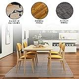 EAYHM チェア マット 150*190cm 厚さ1.5mm デスク下マット 椅子 床 マット 透明PVC 床 保護シート 机下/フロア/畳/床暖房/オフィス 椅子 きず防止