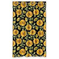 ファッション ヒマワリ カスタム ウィンドウカーテン遮光52x84 約132cm(W)x 213cm(H)